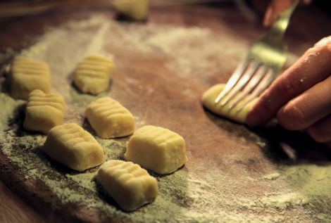 Gnocchi and fork